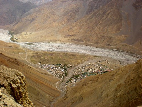 Kaza as seen from above